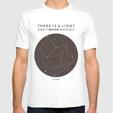 There Is A Light White MEDIUM Mens Fitted Tee