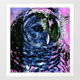 Rainbow Barred Owl Art Print
