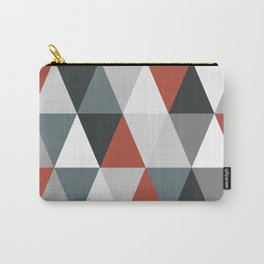 Big triangles red and grey Carry-All Pouch