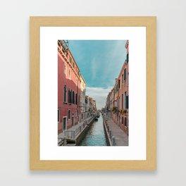 Venice Streets Framed Art Print