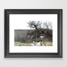 The lost bicycle Framed Art Print