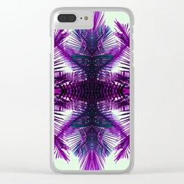 purple fern Clear iPhone Case