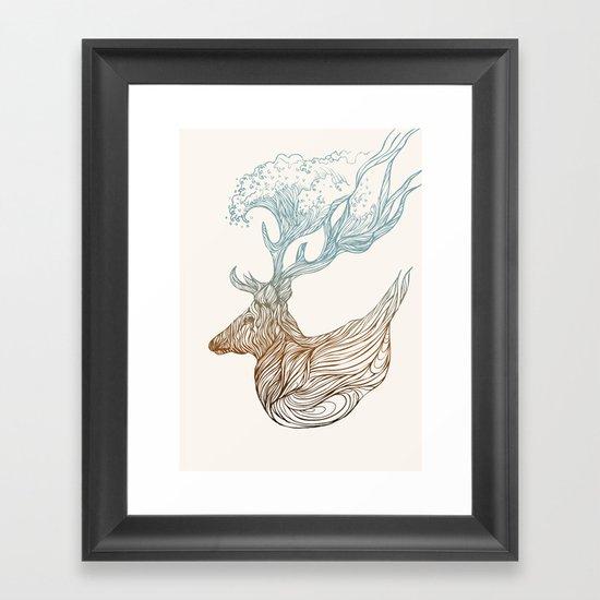 To The Ocean Framed Art Print