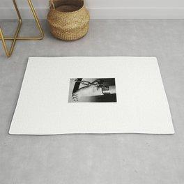 Woman Barefoot in steel leg Cuffes #C7187 Rug