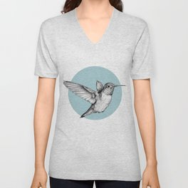 Hummingbird Unisex V-Neck