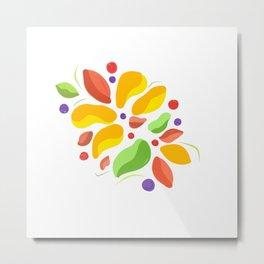Tropical flower Andr fruits Metal Print