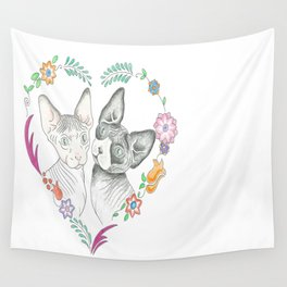 Love Cats Wall Tapestry