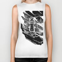 totem Biker Tanks featuring Totem by A P Schofield fine arts