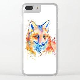 Cute Fox Head Clear iPhone Case