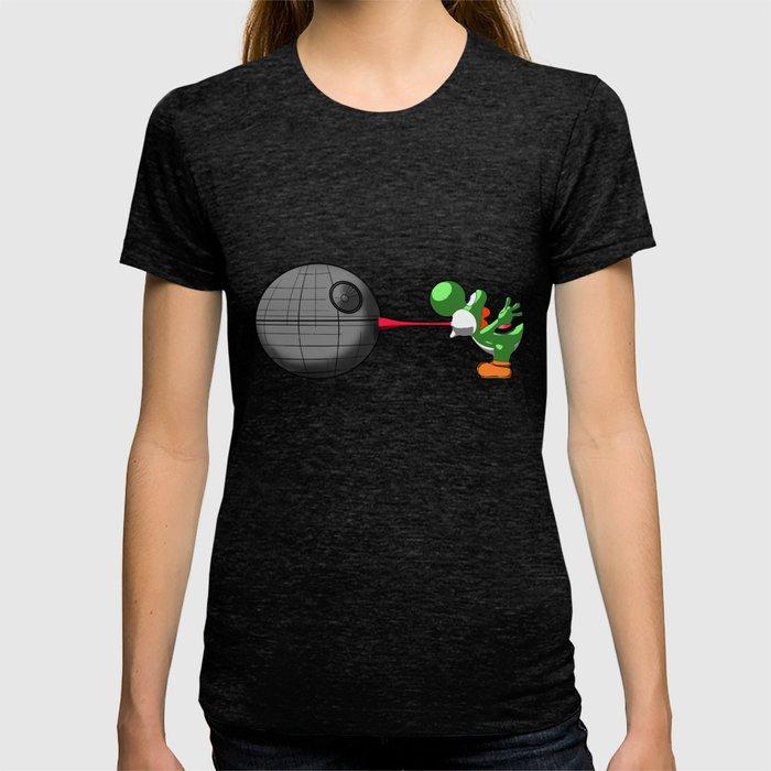 Yoshi eats the DS T-shirt