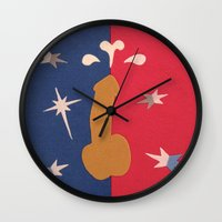 penis Wall Clocks featuring Felt Penis: Fountain of Youth by BRENT PRUITT