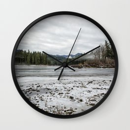 Fish Lake Emerging No. 2 Wall Clock