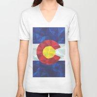 colorado V-neck T-shirts featuring Colorado by Fimbis