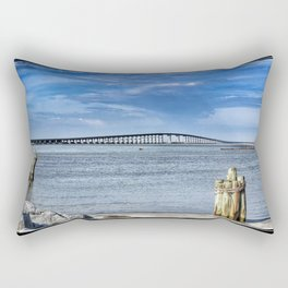 Bridge to sand and sea Rectangular Pillow