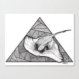 Ray the Stingray Canvas Print