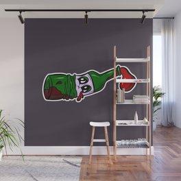 Sad Sad Red Wine Cartoon Wall Mural