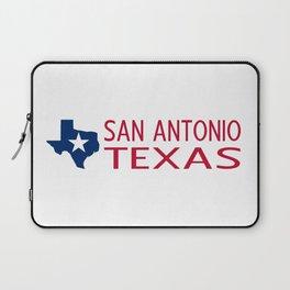 Texas: San Antonio (State Shape & Star) Laptop Sleeve