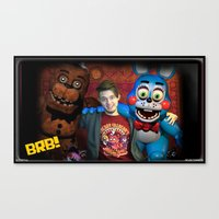 """fnaf Canvas Prints featuring FNAF FRIENDS by """"Neverodd Inks"""""""