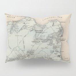 Map of East Hampton 1873 Pillow Sham