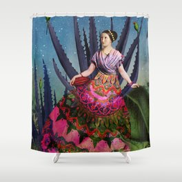 Blue Agave and Cacao Shower Curtain