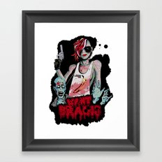Want Brains  Framed Art Print