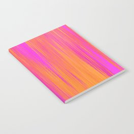 Hot Pink and Orange Ikat Notebook