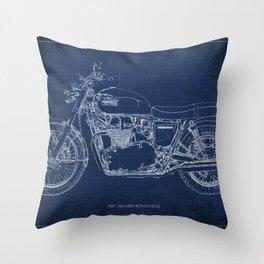 1969 triumph bonneville classic vintage motorcycle christmas gift Throw Pillow