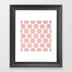 Polka Dots - salmon pink Framed Art Print