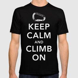 Keep Calm and Climb On! T-shirt