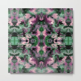 Purple and Green Marble Metal Print