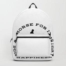 Horse Pony Riding Frieze Haflinger Saddle Gift Backpack