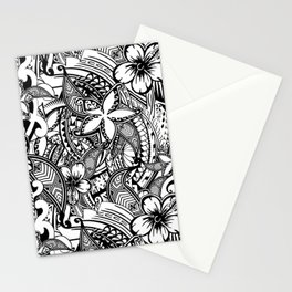 Hawaiian Polynesian Trbal Tatoo Print Stationery Cards