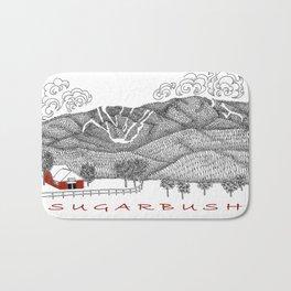 Sugarbush Vermont Serious Fun for Skiers- Zentangle Illustration Bath Mat