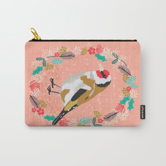 European goldfinch by Andrea Lauren  Carry-All Pouch