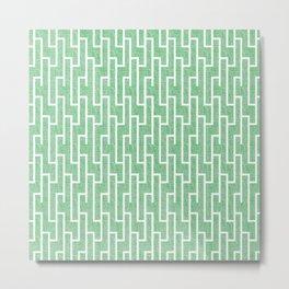 Green latticework pattern Metal Print