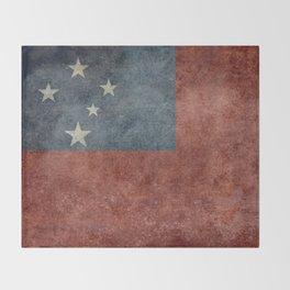 Samoan national flag - Vintage retro version to scale Throw Blanket