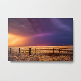 Western Front - Colorful Sky in Summer Storm Metal Print