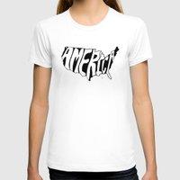 america T-shirts featuring AMERICA by Kris Petrat Design :  Art Love Moto