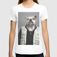 english bulldog T-shirts featuring English Bulldog Worker by Life on White Creative