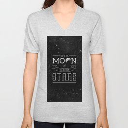 You be the moon and I'll be your stars Unisex V-Neck