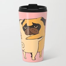 Pug Hugs Metal Travel Mug