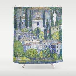 Gustav Klimt Church in Cassone Shower Curtain