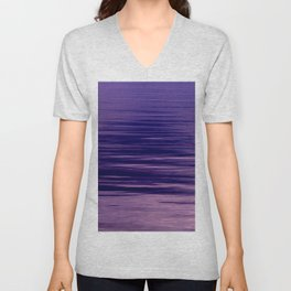 Movement of Water on a Calm Evening- Violet Abstraction Unisex V-Neck