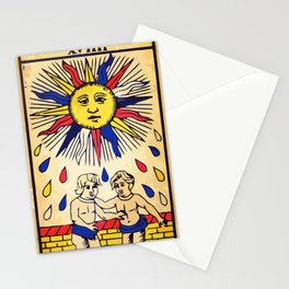 Le soleil Tarot card design Stationery Cards