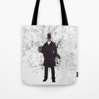 watchmen Tote Bags featuring WATCHMEN - RORSCHACH by Zorio