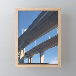 the departure Framed Mini Art Print