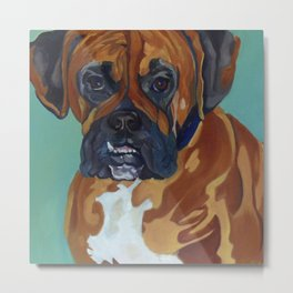Boxer Dog Pet Portrait Metal Print