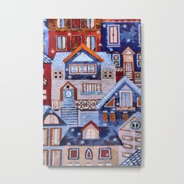 Winter town Metal Print