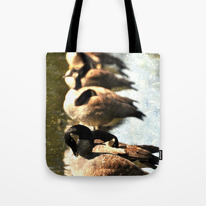GEESE ON A LOG Tote Bag