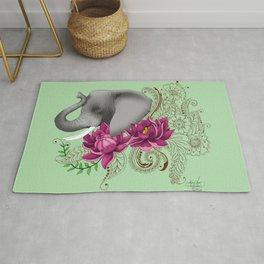 Elephant & Henna Rug